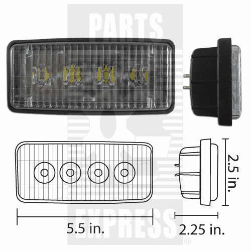Parts Express Lights, Cab, LED      Replaces  RE306510