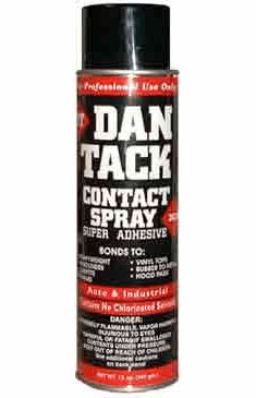 Dan Tack 2028 Industrial, Hi-Heat Resistant Contact Spray Adhesive 16oz x 12cans