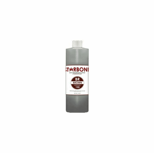 Starbond BR 150 Brown Cyanoacrylate Adhesive 16oz, Includes 2 FREE empty 2oz application bottles with Tips