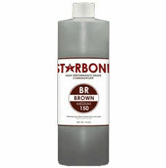 Starbond BR 150 Brown Cyanoacrylate Adhesive 16oz x 6ea, Includes 12 FREE empty 2oz application bottles with Tips