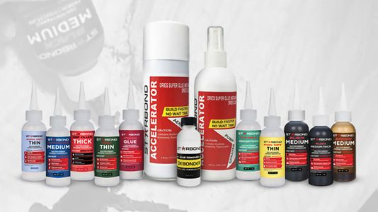 Starbond Cyanoacrylate Adhesives, Includes FREE Applicator Bottles, Tips and Pump Sprayers.