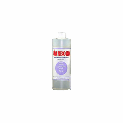 Starbond EM 02 Thin Clear Cyanoacrylate Adhesive 16oz x 6ea, Includes 12 FREE empty 2oz application bottles with Tips