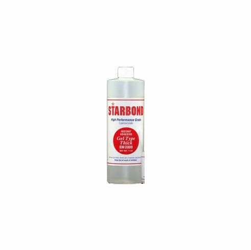 Starbond EM 2000 Thick Clear Cyanoacrylate Adhesive 16oz x 6ea, Includes 12 FREE empty 2oz application bottles with Tips