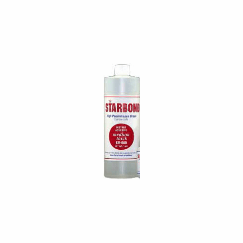 Starbond EM 600 Medium Thick Clear Cyanoacrylate Adhesive 16oz, Includes 2 FREE empty 2oz application bottles with Tips