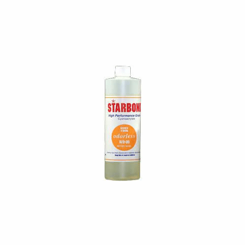 Starbond NO 05 Odorless Thin Cyanoacrylate Adhesive 16oz x 6ea, Includes 12 FREE empty 2oz application bottles with Tips