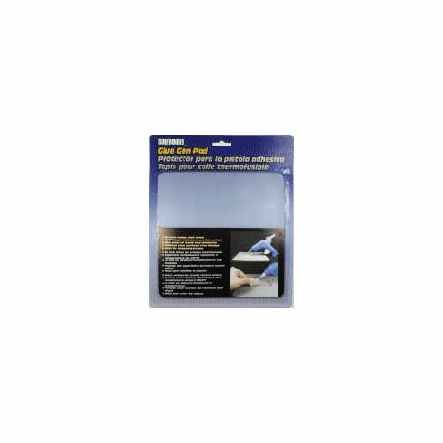 """Surebonder 6100 Clear glue gun pad. Protects work surfaces from dripping glue from gun. Glue peels off after glue is dry. Clear in color to trace for craft projects. Size: 8"""" x 8"""""""