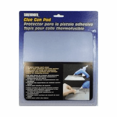 "Surebonder 6100 Clear glue gun pad. Protects work surfaces from dripping glue from gun. Glue peels off after glue is dry. Clear in color to trace for craft projects. Size: 8"" x 8"""