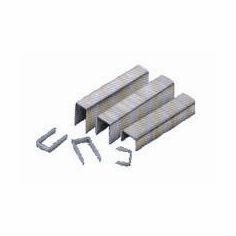"USB8010SS 3/8"" Length x 1/2"" Crown 21 Gauge Stainless Steel Fine Wire Upholstery Staples (10,000 Staples)"