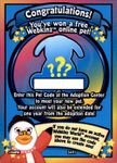 Webkinz RANDOM PET CODE from Webkinz Trading Cards Series 4 - Delivered by Fast and Free Email Delivery