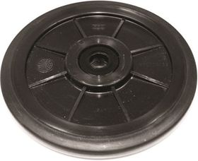 "PPD  8"" COMPOSITE IDLER WHEELS WITH 6205 BEARING AND RUBBER COATED OUTER EDGE"