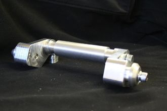 "TKI CNC - TOM KOBZA INC - BILLET OFFSET 2 WHEEL AXLE FOR 10"" WHEELS"