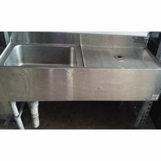 EAGLE GROUP STAINLESS STEEL COMMERCIAL SINK WITH WORK TABLE ON RIGHT