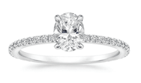 1.30 Carat Oval Diamond Ring in White Gold