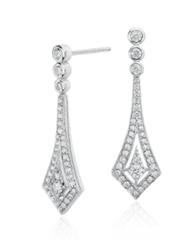 Drop Diamond Earrings in 14k White Gold and 1/2 ct.
