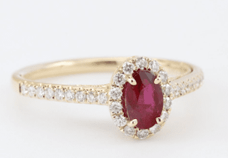 .5 ct. Ruby Engagement Ring in 14K Yellow Gold