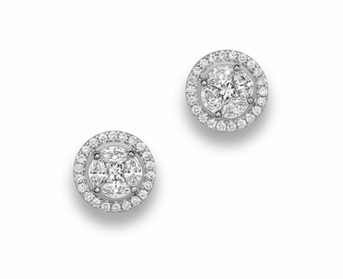 Diamond Halo Stud