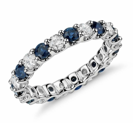Luna Sapphire and Diamond Eternity Ring