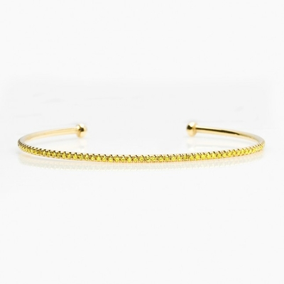 Yellow gold cuff bangel