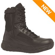 Tactical Research MAXX8Z WP Men's Maximalist 8 Inch Side Zip Waterproof Black Tactical Boot