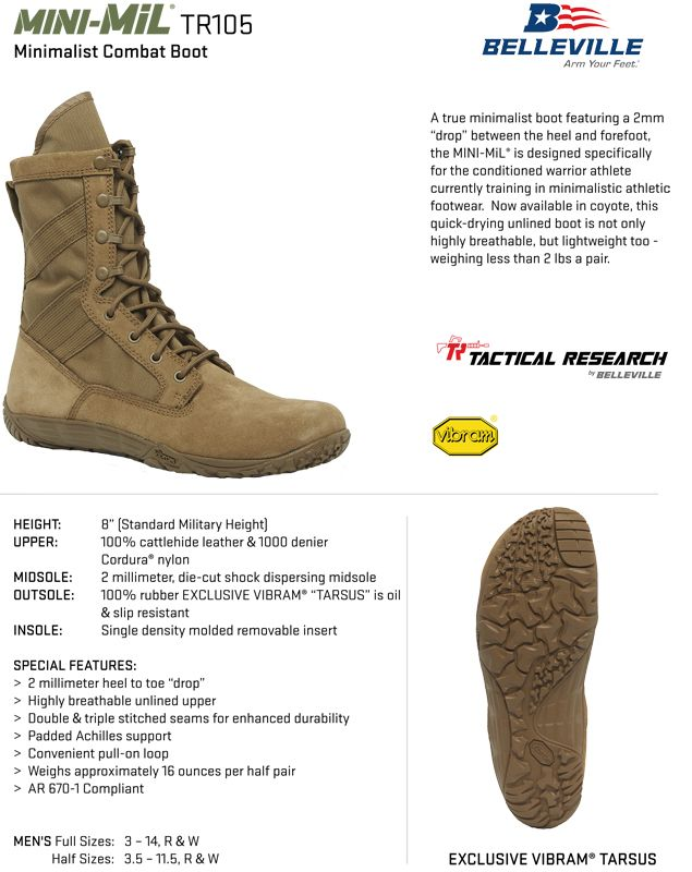 Tactical Research Tr105 Minimil Ultra Light Coyote Brown