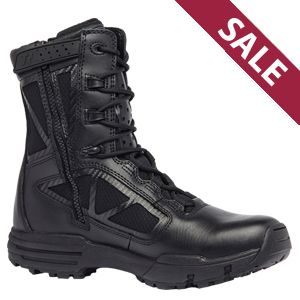 Tactical Research TR998Z WP Chrome Side Zip Waterproof Uniform 8in Boot