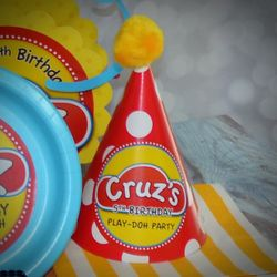 Play-Doh Personalized Party Hats