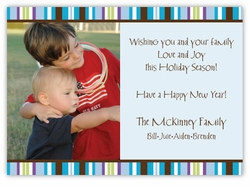 Aiden Stripe Photo Holiday Card