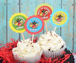 Angry Birds Birthday<br>Personalized Cupcake Toppers / Picks
