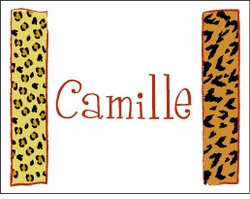 Animal Print Columns Note Cards