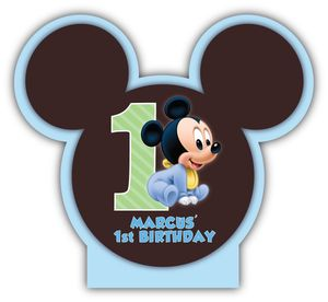 Baby Mickey Mouse First Birthday Personalized Mini Table Decorations