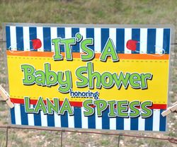 Baby Shower Brights Personalized Baby Shower Yard Sign
