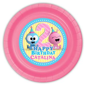 BabyFirst Baby Goo Goo & Gaa Gaa Party Personalized 9inch Meal Plates