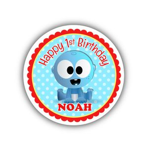 """BabyFirst Baby Goo Goo Party Personalized 2.25"""" Stickers"""