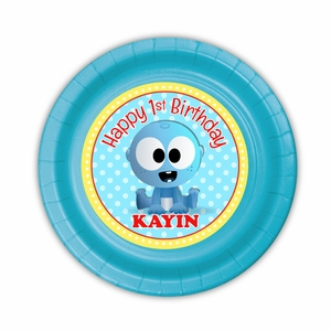 BabyFirst Baby Goo Goo Party Personalized 7inch Cake Plates