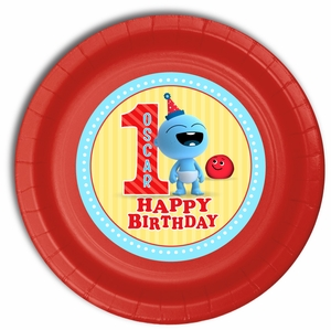 BabyFirst Baby Goo Goo Party Personalized 9inch Meal Plates