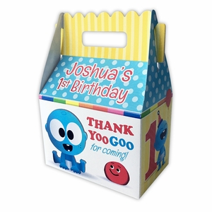 BabyFirst Baby Goo Goo Party Personalized LARGE Gable Favor Box