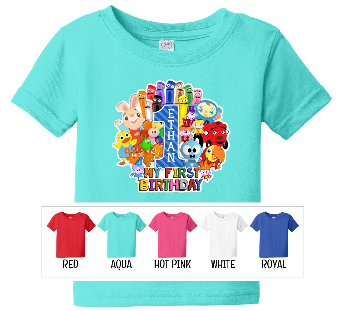 BabyFirst TV Favorites Personalized Birthday Shirt