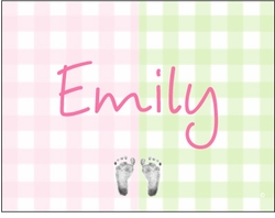 Big Gingham Girl Note Cards