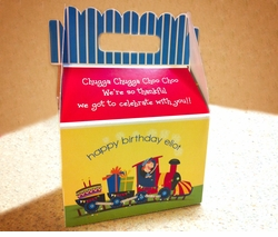 Birthday Train<br>Personalized Gable Box Favor