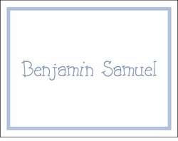 Blue Border Note Cards