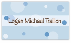 Blue Delicious Dots Calling Card