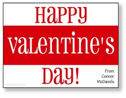 Bold Stripe Personalized Valentine