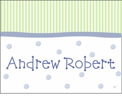 Boy Stripes-n-Dots Note Cards