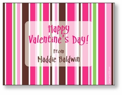 Bright Stripes Personalized Valentine