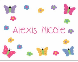 Butterflies & Flowers Note Cards