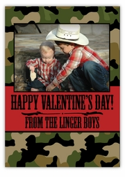 Camo Western Valentine�s Day Photo Card