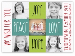 Canvas Squares Multi Photo Holiday Card