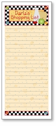 Checkered Grocery List Pad