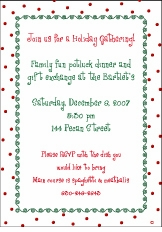 Christmas Dots-n-Swirls Holiday Party Invitation