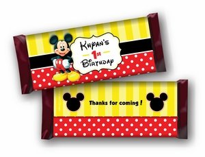Classic Mickey Mouse Hershey Bar Wrappers